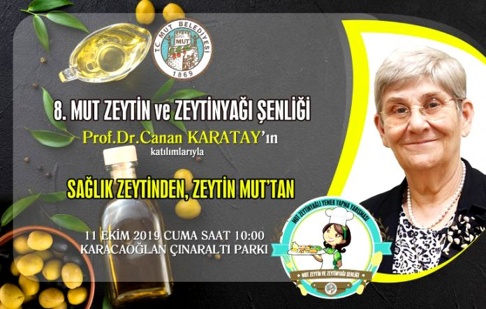 Mut Zeytin ve Zeytinyağı Şenliği Canan Karatay' la Şenlendi