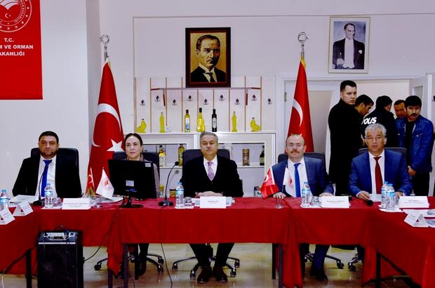 Mut Zeytini Değerlendirme Toplantısı Vali Su Başkanlığında Yapıldı